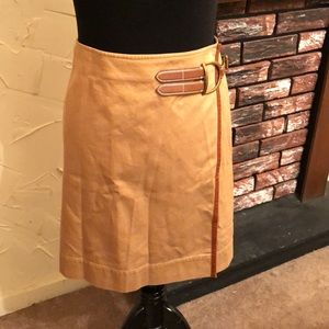 Ralph Lauren Cotton Tweed Wrap Skirt